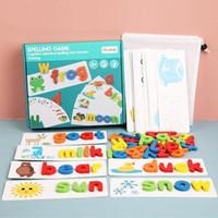 Blanco de ortografía de madera para palabras en inglés para niños Suministros escolares infantiles Diversión Aprendizaje juguetes Familia Enseñar suministros FY9392