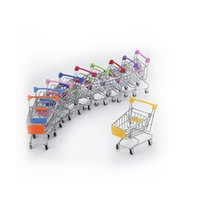 Mini carro de compras Accesorios de artesanía Pequeño Supermercado Trolley Modelo Modelo Huevo Juguete