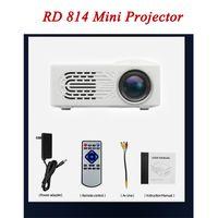 مصغرة العارض RD814 LCD الصمام المحمولة جيب العرض RD-814 المسرح المنزلي سينما الوسائط المتعددة للأطفال