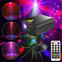 Party Laser Lighting DJ Disco Lights Flash Stage Light Sound Control Projector With Remote Controls Suitable For Birthday Wedding KTV Courtyard Room