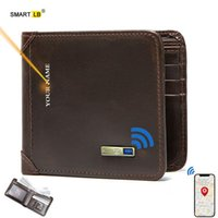 Wallets Smart Wallet Tracker Genuine Leather Men Finder Short Thin Card Holder Bluetooth-compatible Free Engraving Cool Gift