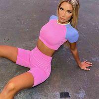 Women Yoga Set Sports shorts High Waist Seamless Fitness set Gym Shorts Set Running Sportswear Workout Clothes Sports Suits 2pcs