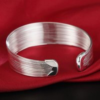 Bangle 925 Sterling Silver Multi-Line Bracelets For Women Fashion Jewelry High Quality Gift