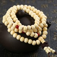 2021 Newest Buddha 108*8mm Natural Sandalwood Buddhist Buddha Meditation 108 beads Wood Prayer Bead Mala Bracelet Women Men fast ship