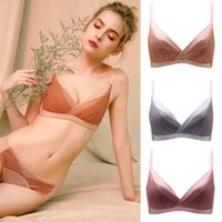 Bra Sets High end rimless underwear thin dry rose Lace Sexy gathering comfortable girl suit H7MV