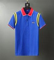 21ss İtalyan Marka Tasarımcısı Polo Gömlek Lüks T-shirt Yılan Arı Çiçek Nakış erkek Polos Yüksek Sokak Moda Çizgili Baskılı T-Shi