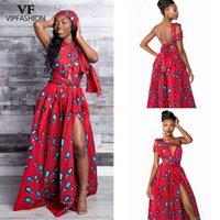 VIP мода мода летняя племенная нация стиль сексуальный длинный халат цветочные африканские печатные платья для женщин плюс размер индийского длинного платья 210317