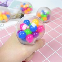 6cm Anti Stress Face Relevante Bola Colorido Autismo Humor Esprema Relevo Engraçado Gadget Ventilado Fidget Decompression Toys Squash Bola de Uva H3103