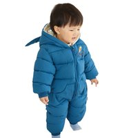 Baby Rompers Winter Newborn Down Coat Bodysuits Infant Babies Clothes Girls Boys Jumpsuit Hooded Kids One Piece Clothing Toddler Outwear Keep Warm B8773