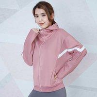 Lulu Full Zip Hooded women's sports coat bat sleeve cardigan jacket running fitness yoga suit long sleeve suit