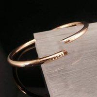 Moda luxo prego Bangle Classic Titanium Steel Love Bracelet Design Criativo Jóias com embalagem de caixa de presente requintada
