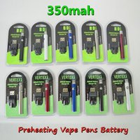 Vertex Batteries 510 Thread Vape Battery Preheating Vape Pens Battery 350mAh Variable Voltage 510Cartridges for thick Oil Vapes Cart Grade A battery