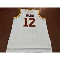 Vintage 21SS Weißgold 1992 Florida State Charlie Ward # 12 College echte Stickerei Jersey Größe S-4XL oder benutzerdefinierte Name oder Nummer Jersey