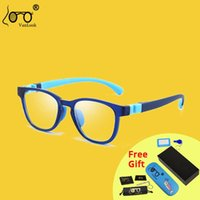 Anti óculos de luz anti azul para crianças jogos de tela óculos menino menina protetora para computador tr90 transparente quadro de óculos
