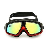 Warming Eyewear RX Prescrição de natação Óculos Hyperópia Myopia Nadar Óptica Óculos Óculos de Snorkel Corretivo Máscara Livre Ear Plugs ...