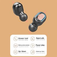 TWS wireless touch earphone 3D music sports waterproof earplugs with LED charging box mobile phone emergency power bank