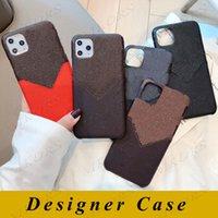 L Funda de diseño de teléfono para iPhone 12 Mini 12Pro 11 11PRO X XS MAX XR 8 8PLUS 7 7PLUS CASOS DE CUERO DE CUERCO DE PU Cáscara de diseñador con soporte de ranura para tarjeta