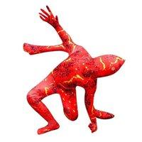 Para crianças Dia das Bruxas Cosplay Magma Impresso Roupas One-peça Traje Dos Desenhos Animados Desenhos Animados Funny Horror Brincado Boys Boys and Girls Gallsuits G80dy58