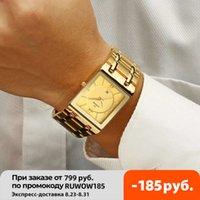 Relogio masculino wwoor gold uhr männer square herren uhr top marke luxus goldener quarz radls stahl wasserdichte armbanduhr