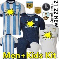 2021 2022 Racing Club Soccer Jerseys Camisetas Tomás Chancalay Fertoli Churry Rojas Barbona Cvitanich Anybal Moreno 21/22 الصفحة الرئيسية Away Third Men + Kid Kit Football Commet