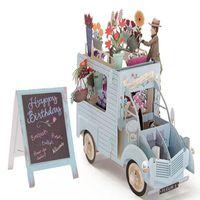 Biglietti d'auguri 3D Fiori auto Grazie card Valentine Anniversary Christmas Birthday Party Inviti Carta