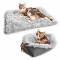 Cat Beds & Furniture Pet Bed Mat Soft Dog Blanket Fleece Warm Sleep Winter Foldable Cushion Supplies