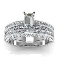 Victoria wieck funkelnd handgefertigte schmuck paar ringe 925 sterling silber ewigity prinzessin cut weiß topaz cz diamant braut ring set geschenk