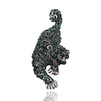 Fábrica personalizada tigre em forma de broche liga diamante broche vendas moda acessórios acessórios pin christmas