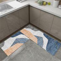 Esteira de cozinha nórdica para piso anti-deslizante tapetes de chão xadrez dos desenhos animados Entrace Caçador de cozinha longa e tapetes de banho