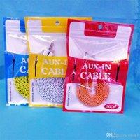 10.5 * 15cm colorato cerniera borse per imballaggio con zip in plastica con zip sacchetto di imballaggio al dettaglio OPP PVC Box Pacchetti per cavo audio AUX Adattatore auricolare