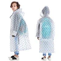 Yuding novo impermeável crianças estrelas impressão cheia crianças compridas bolsa de escola com capuz capa de chuva com bolsa para meninos meninas