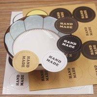 Envoltório de presente feito à mão branca / marrom / cor preta 3.5cm redondo forma dadehesy papel papelaria etiqueta scrapbooking japão adesivo floco feitos à mão