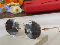 남성과 여성을위한 선글라스 여름 스타일 파샤 안티 - 자외선 레트로 플레이트 금속 라운드 전체 프레임 패션 안경 무작위 상자