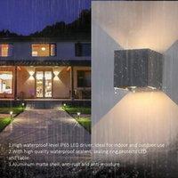 Outdoor Wall Lamps LED Lights IP65 Waterproof Garden Lighting Aluminum Surface For Indoor Decor