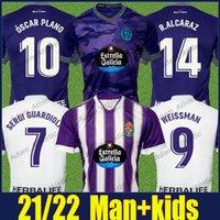 Real Valladolid футбол для футболки Дом домой Оскар Plano Weissman Sergi Guardiola Футбольные рубашки Fede S. L.olaza R.alcaraz Jersey Man Kit Kit Camiseta de Futbol 21/22 Top