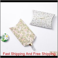 Pillow Box Chocolate Candy Cookie Wedding Party Baby Shower Favor Gift Pillow Packaging Boxes Pattern jllXTH xmhyard