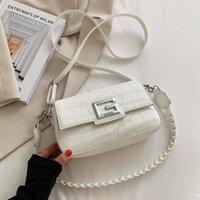 Evening Bags Luxury Crocodile Pattern Women's Shoulder Designer Letter G Square Bag Brand Handbag PU Leather Crossbody Female Purses