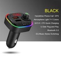 Светодиодная вспышка C13 Car Kit Bluetooth беспроводной светодиодный автомобиль MP3-плеер FM-передатчик Handsfree Audio Reisever QC3.0 PD Быстрое зарядное устройство двойное зарядное устройство USB