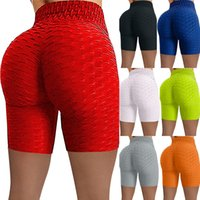 Women Active Shorts Fashion Pure Solid Yoga Pants Lady Sports Wear Pleasted Draped Skinny Clothing
