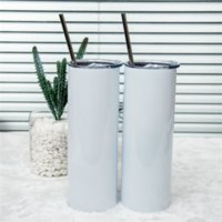 20oz Fashion Straight Tumbler 304 Stainless Steel Water Bottles Vacuum Insulated bottoms Beer Coffee Mug Cup with Lids and Plastic Straws WHT0228