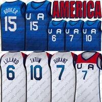 Tokyo Olympics Баскетбол Джерси Команда США Девин 1 Букер Кевин 7 Друшко Дююнс Дэмиан 6 Лиллард Джейсон 10 Татум Джерси