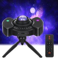 40 # LED Projecteur Galaxy Ocean Wave LED Night Light Light Musique Player Star Remote Soirée Nuit Tour de la chambre à coucher Tripode Tripode