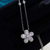 HBP 패션 럭셔리 S925 스털링 실버 목걸이 상감 된 다이아몬드 한국어 절묘한 선물 항목 쥬얼리 쇄골 체인 성격 간단한