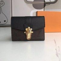 새로운 패션 L 꽃 패턴 지갑 핸드백 고품질 지갑 빈티지 가방 여성 클래식 스타일 정품 가죽 womens 지갑 상자 먼지