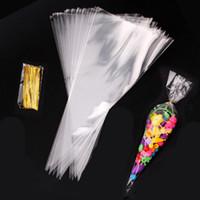 20 / 50pcs Coniglio regalo sacchetti coni Trasport Plastic Bag Bag Carota Sacchetti di caramelle Bambini Decorazione feste di compleanno Decorazione di festa di Pasqua Decorazioni