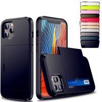 Красочный чехол для телефона доспеха со слайдкой чехол для iPhone 6 7 8Plus X XR XS MAX 11 11 PRO 12 12 Мини Samsun Note 20