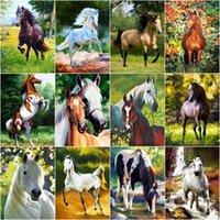 Dipinti Chenistory Paint by Number Horse Animale Animale FAI DA TE Numeri Kit Disegno su Tela Regalo a mano Decorazione Della Decorazione Della Decorazione Della Casa