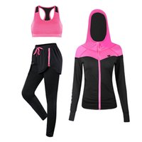 Jinxiushirt esporte ternos fitness feminino yoga conjunto executando esportes sportswear treinamento jogging terno ginásio roupas esportivas conjunto 3 fotos