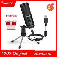 Maono AU-PM461TR USB Microfono Condensatore Condensatore Laptop PC MIC per Assemblea Insegnamento online Streaming live streaming Youtube