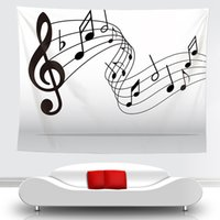 Newnovelty الفن musica ملاحظة نمط نسيج شنقا الجدار البطانيات ضوء الوزن البوليستر النسيج جدار ديكور المنزل للموسيقى عاشق EWB7004